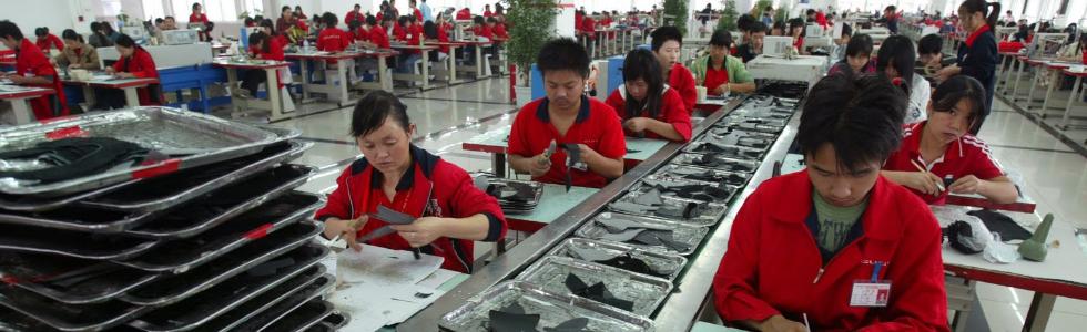 Salarios chinos bajos